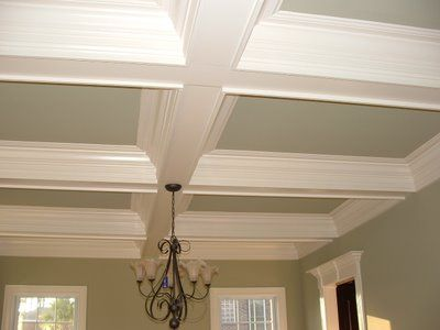 Coffered Ceiling Jpg 400 300 Pixels Crown Molding Vaulted Ceiling Foam Crown Molding Basement Ceiling Ideas Cheap