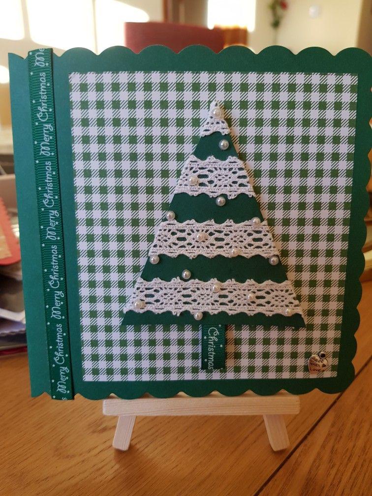 Washi Tape Christmas Tree Card Christmas Cards Pinterest