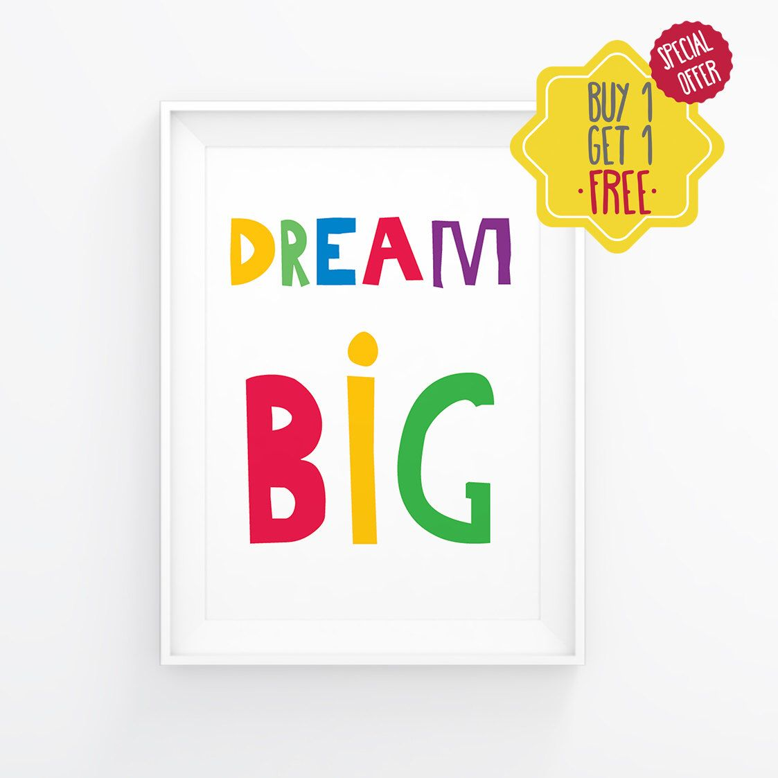 Dream big art for kids room nursery printables baby room prints