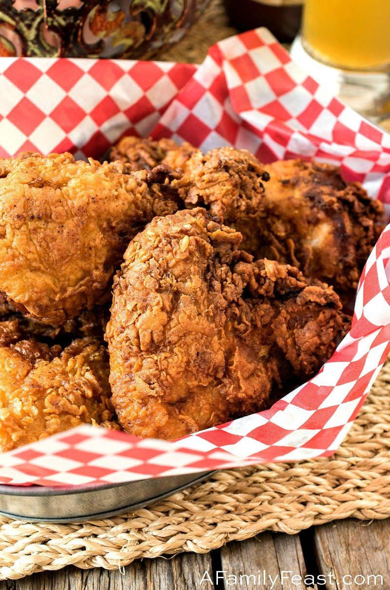 This Buttermilk Fried Chicken Recipe Is Crispy And Flavorful On The Outside And Juicy And Tender Buttermilk Fried Chicken Fried Chicken Recipes Fried Chicken