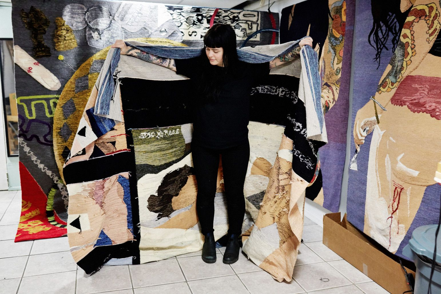 Inside Erin M. Riley's Sex and Tapestry-Filled Brooklyn Studio -