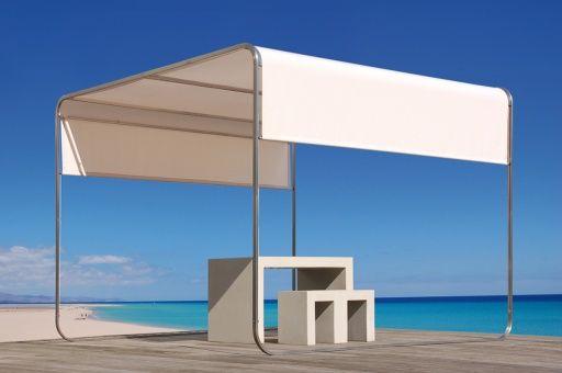 Aufrollbares Designer Sonnensegel mit Stangen Flexibler