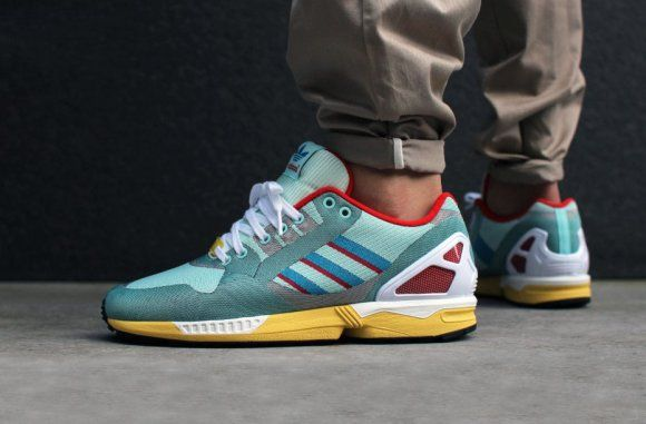 Adidas Zx Flux Weave Hydra Turquoise Poppy Red Adidas Originals Zx Flux Adidas Zx Flux Women Adidas Shoes Originals