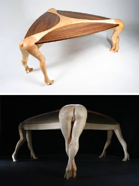 10 craziest human-shaped pieces of furniture | tables, lights and