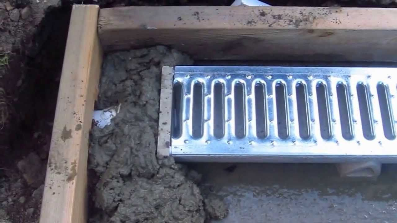 Install A Trench Drain Video 5 Of 7 Trench Drain Trench Drain Systems Dog Kennel Flooring