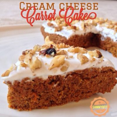 Cream Cheese Carrot Cake - With Peanut Butter on Top