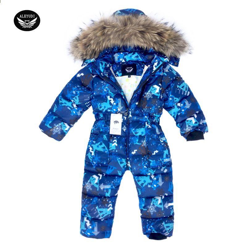 8323c827c बच्चों स्कीइंग सूट शीतकालीन स्नोज़िट बेबी लड़कों Jumpsuits वस्त्र निविड़  अंधकार नीचे ...