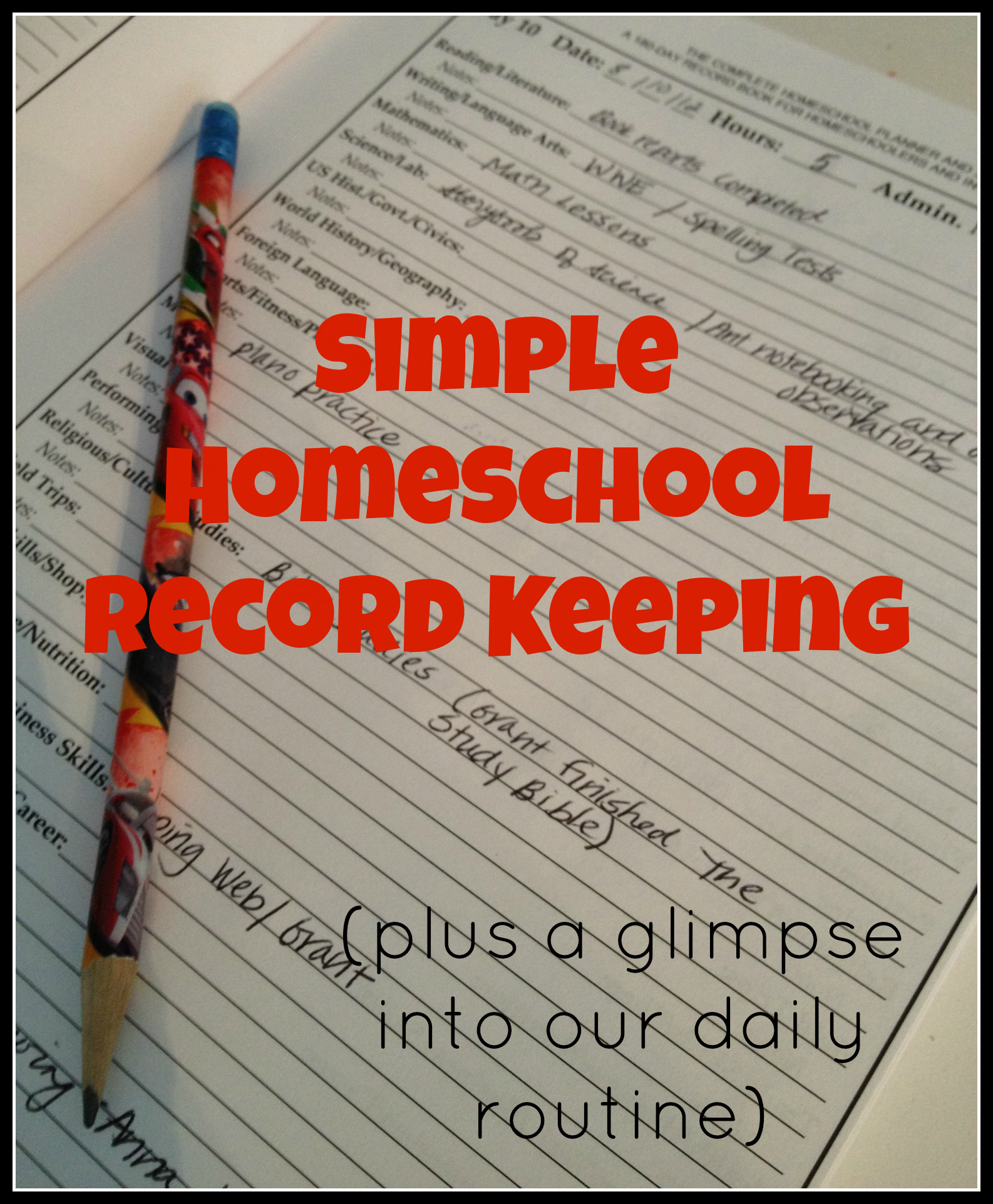 A Day-in-the-Life of | Homeschool Planning and ...