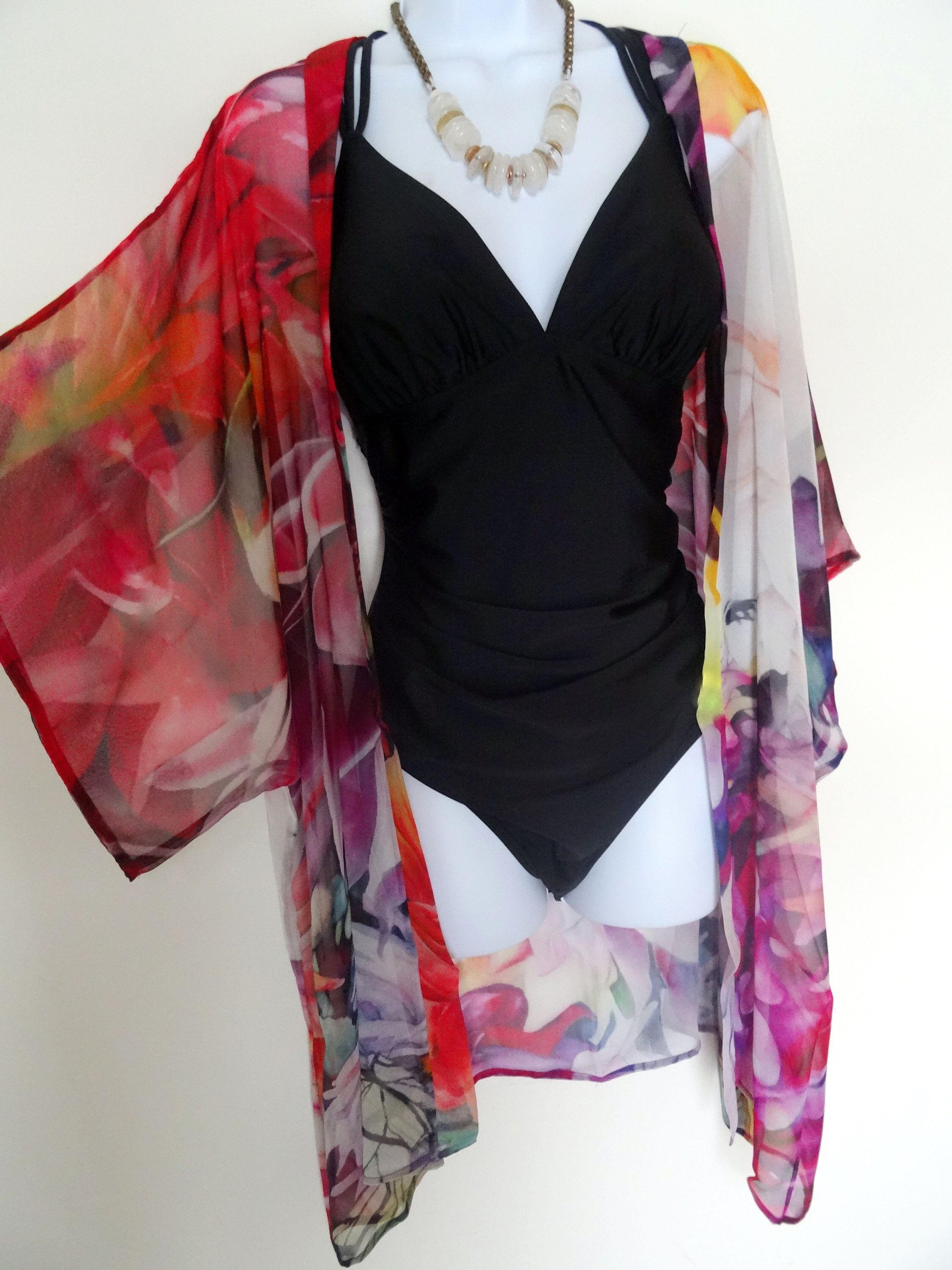 eb7b094949 Excited to share this item from my #etsy shop: Floral Silk Kimono -  Hummingbird - Dahlia - Dinner Jacket - Mother of the Bride - Silk Duster -  For Her ...