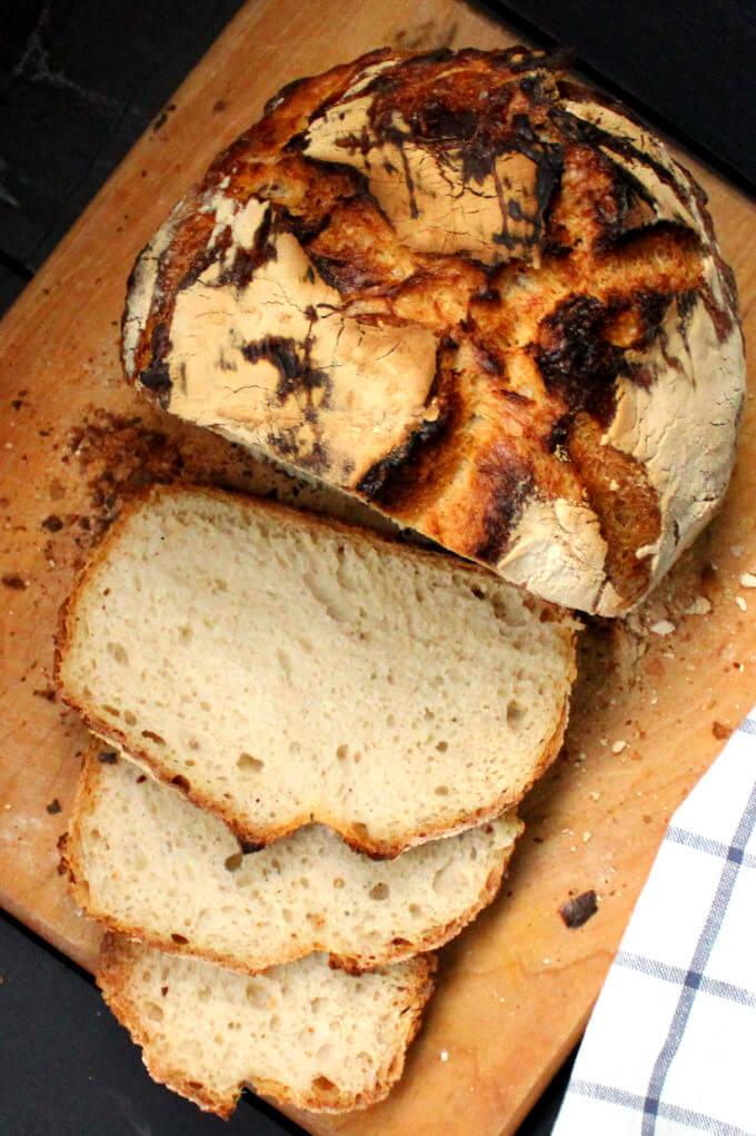 No Knead Sourdough Bread   Recipe   Sourdough bread