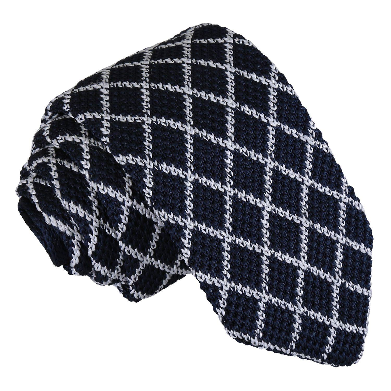 DQT Knit Knitted Diagonal Stripe Black Green Casual Mens Slim Tie