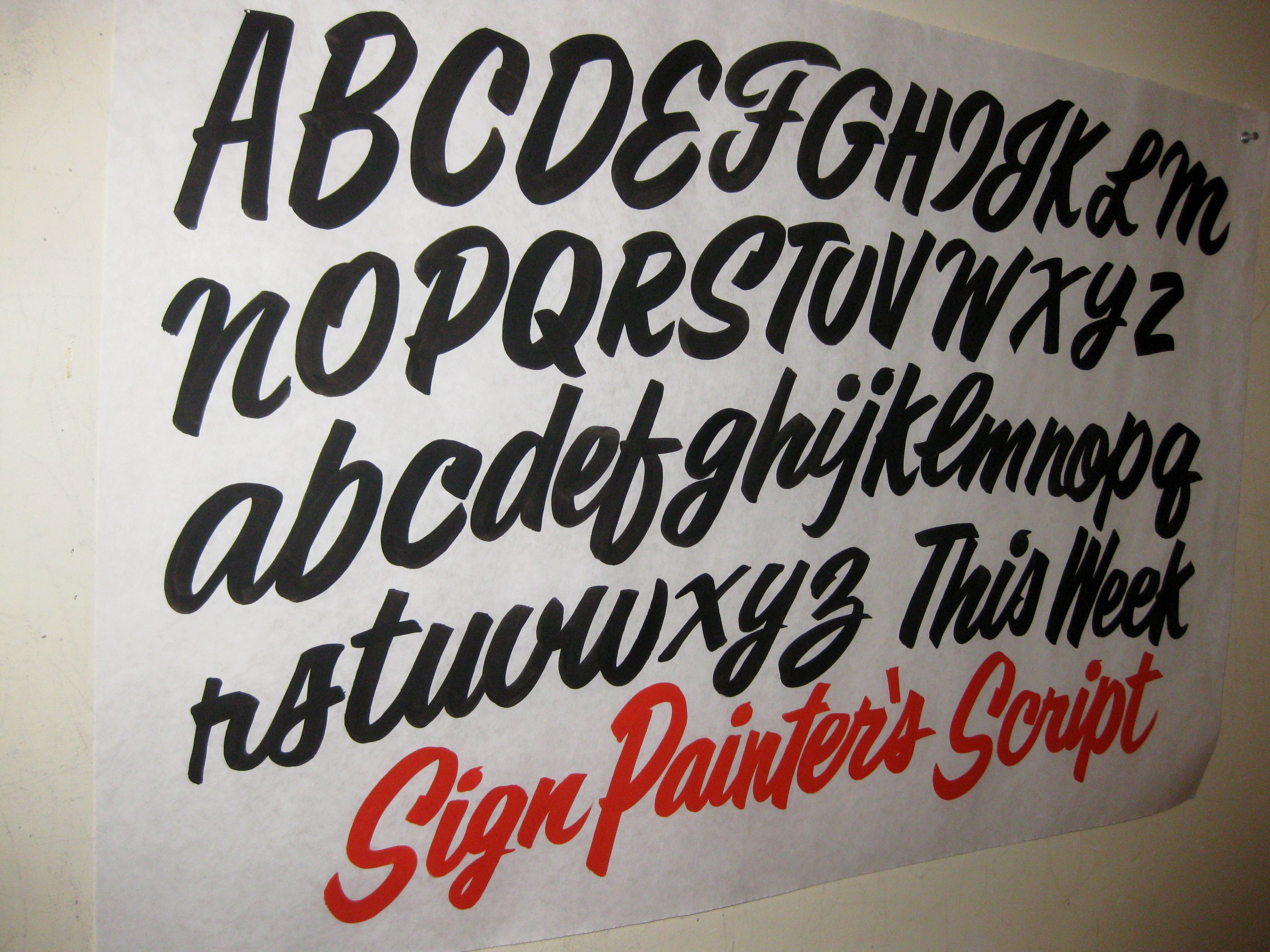 School Painted Old Lettering Hand