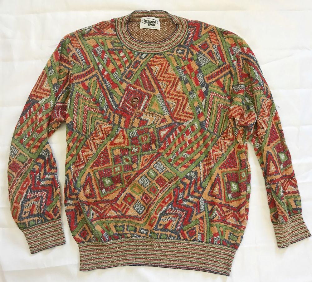 newest e916c 92e47 Details about MISSONI UOMO Vintage mens Knit Jumper Sweater ...