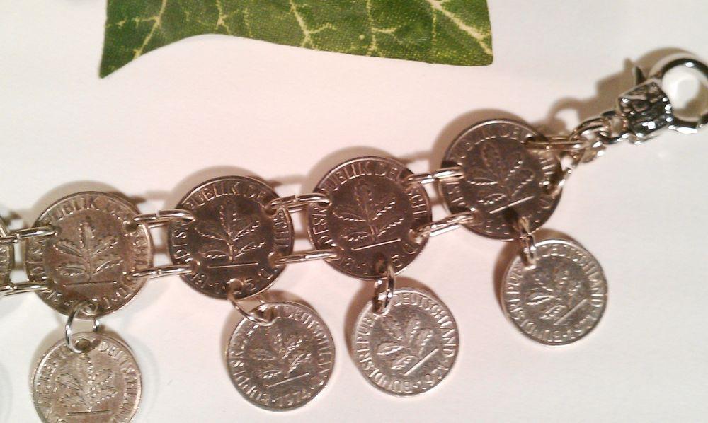 #Charivari #Münzkette #Glücksbringer 1 und 2 Pfennig Stück #Münze versilbert **EDEL in Uhren & Schmuck, #Folkloreschmuck, #Trachtenschmuck   eBay #helenehoelle.de