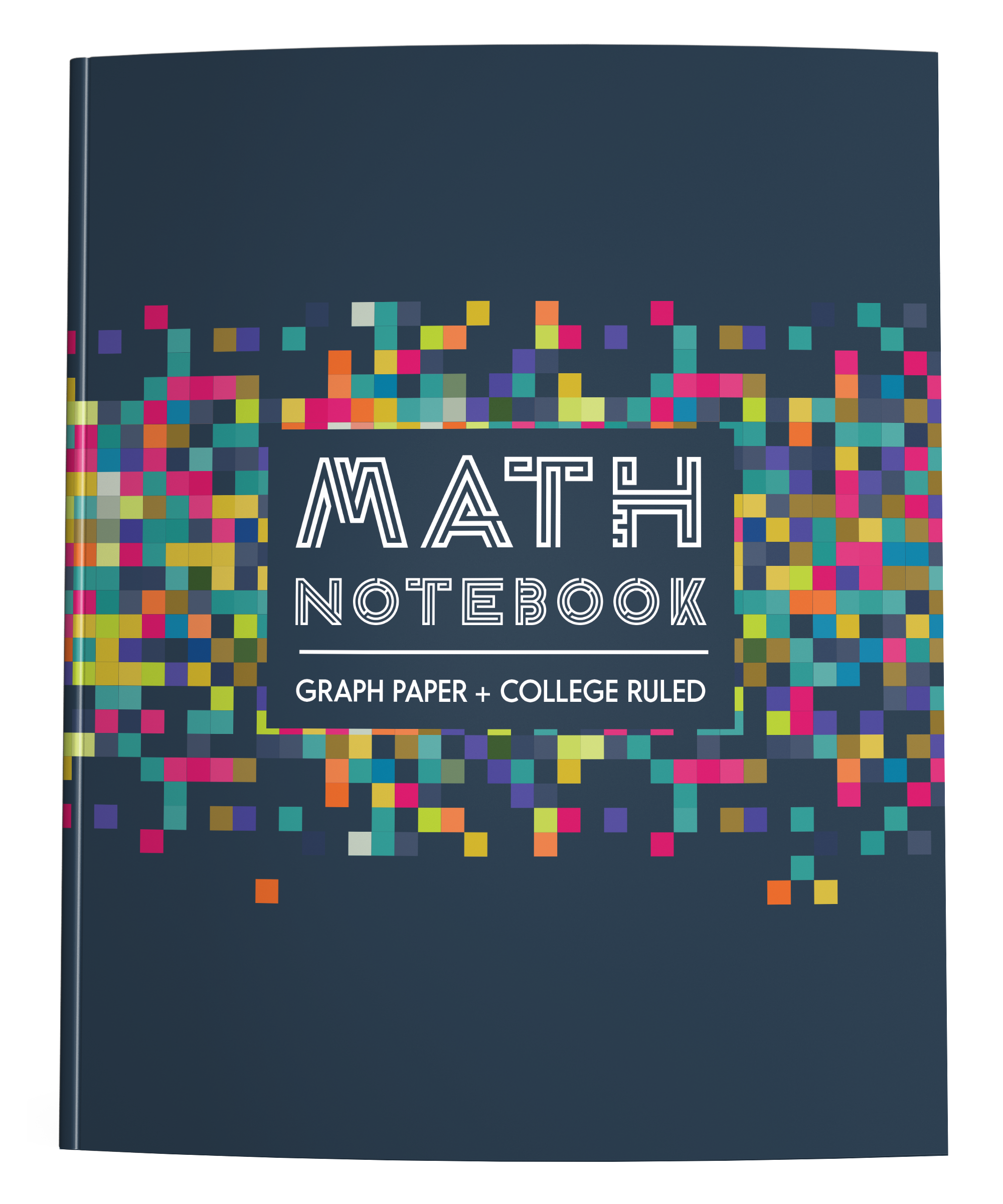 Math Notebook Graph Paper College Ruled Colorful Pixels Squidmore Company Stationery Math Notebooks College Rule Graph Paper