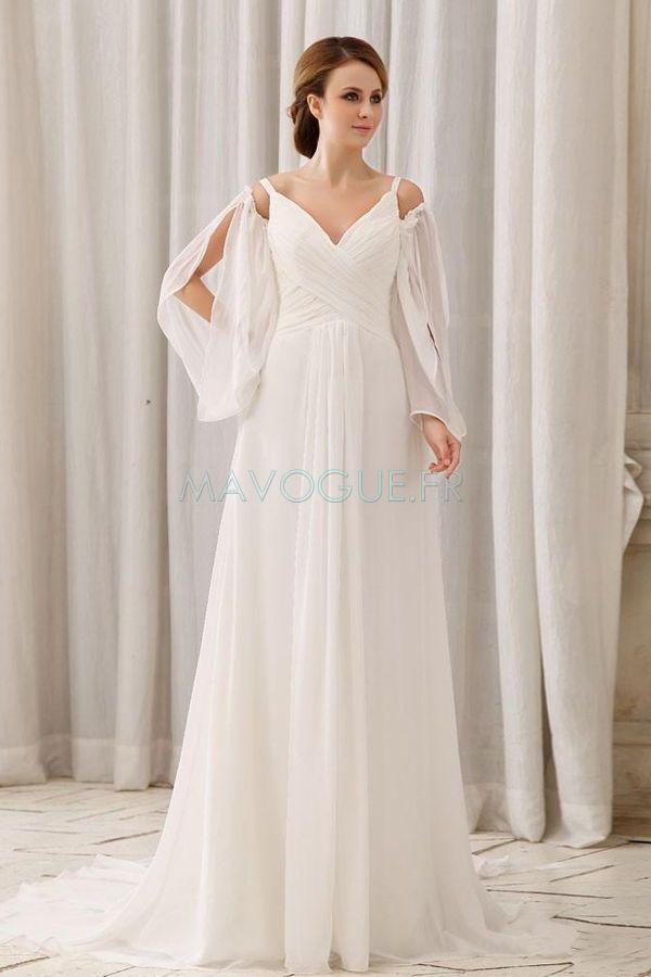 Robe de mariee en v dans le dos