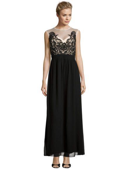 6dde9139668083 LITTLE-MISTRESS Abendkleid mit floraler Spitze in Schwarz | FASHION ID  Online Shop