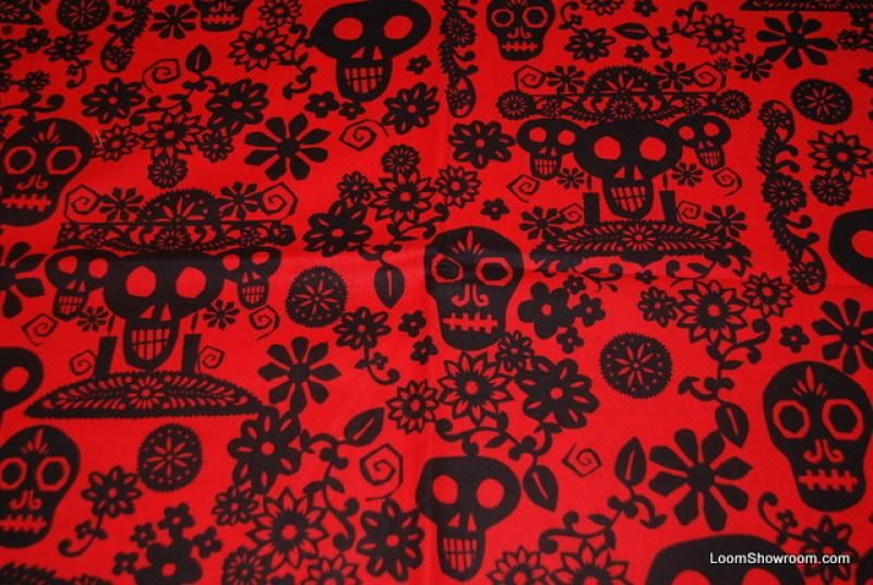 R96 Papel Picado Mexico Paper Cut Day Of The Dead Skull Skulls And Flowers Floral Leaves