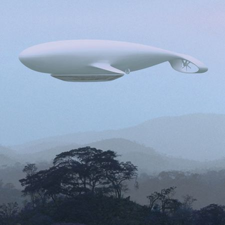 Manned Cloud: a flying hotel proposed by French designer Jean-Marie Massaud.