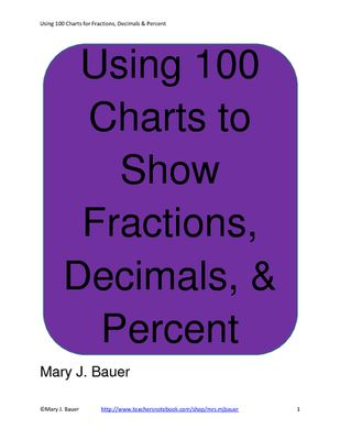 Using+100+Charts+to+Show+Fractions,+Decimals,+and+Percent+from+