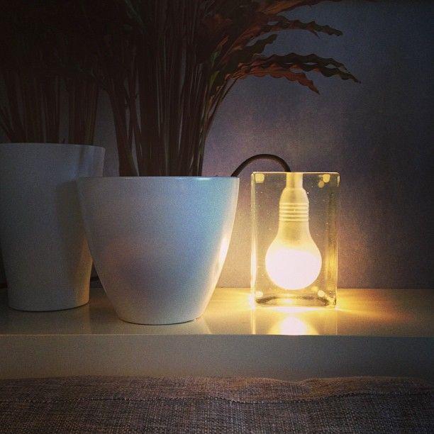 A lamp in ice... Block Lamp designed by Harri Koskinen for Design ...