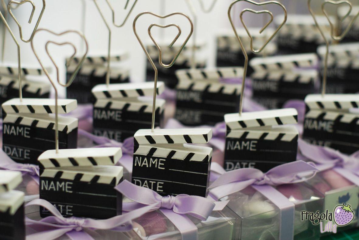 Matrimonio Tema Hollywood : Fragola lilla bomboniere segnaposto in tema cinema idee