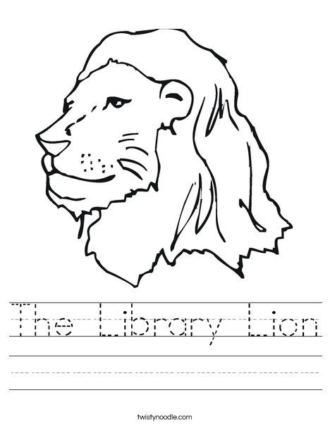 The Library Lion Worksheet Library Lesson Plans Kindergarten Library Kindergarten Library Lessons