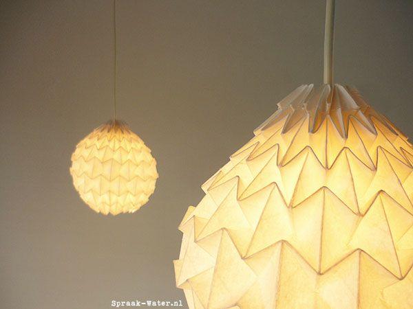 Diy Origami Hanglamp Spraak Water Designblog Woonblog1 Origami