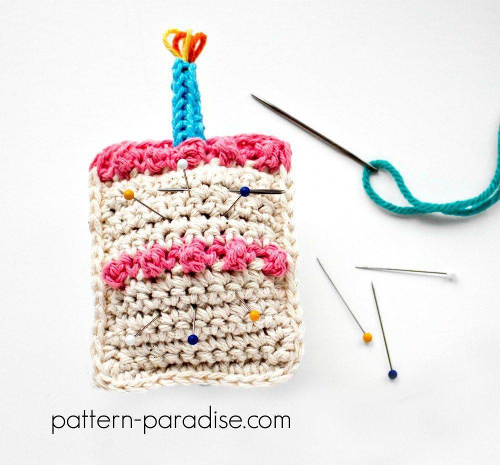 Free Crochet Pattern: Birthday Pin Cushion | Pinterest