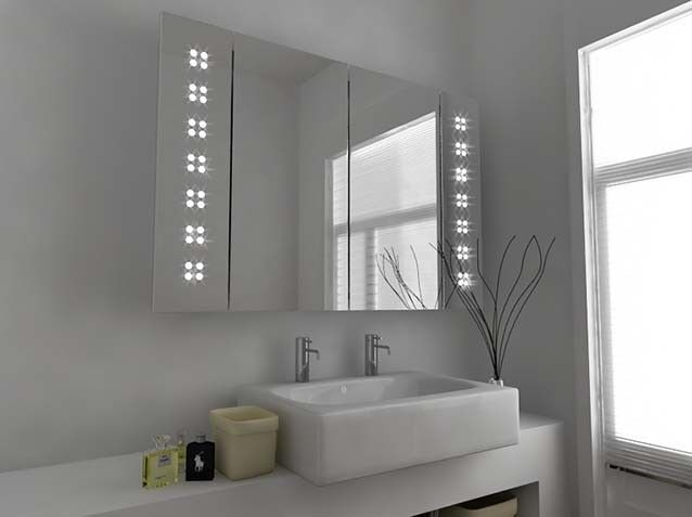 Bathroom Cabinets With Shaver Socket ulysses demister led mirror cabinet with sensor, demister pad and