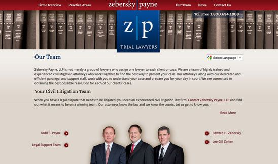Law Firm Web Design By Paperstreet Www Paperstreet Com Law Firm Trial Lawyer Legal Services