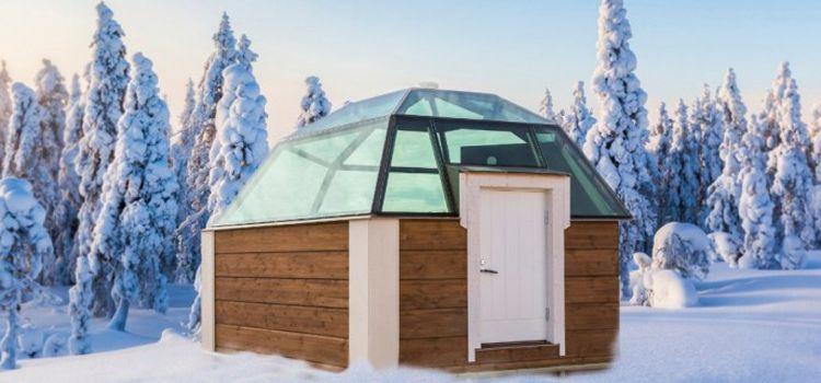iglu de cristal en hotel de hielo laponia