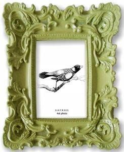 Sage Green Baroque Frame By Sixtrees