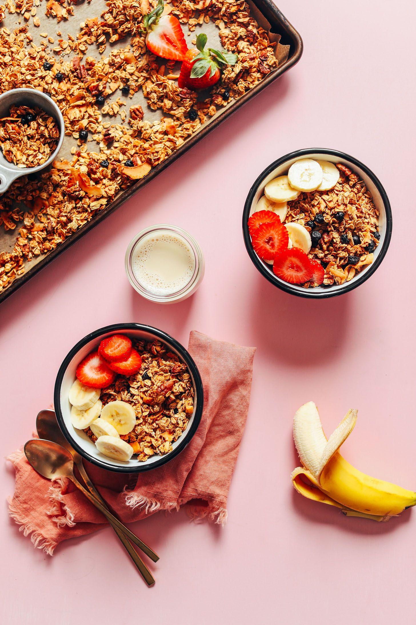 Easy Vegan Oil Free Granola Minimalist Baker Recipes Recipe In 2020 Oil Free Vegan Aquafaba Easy Vegan