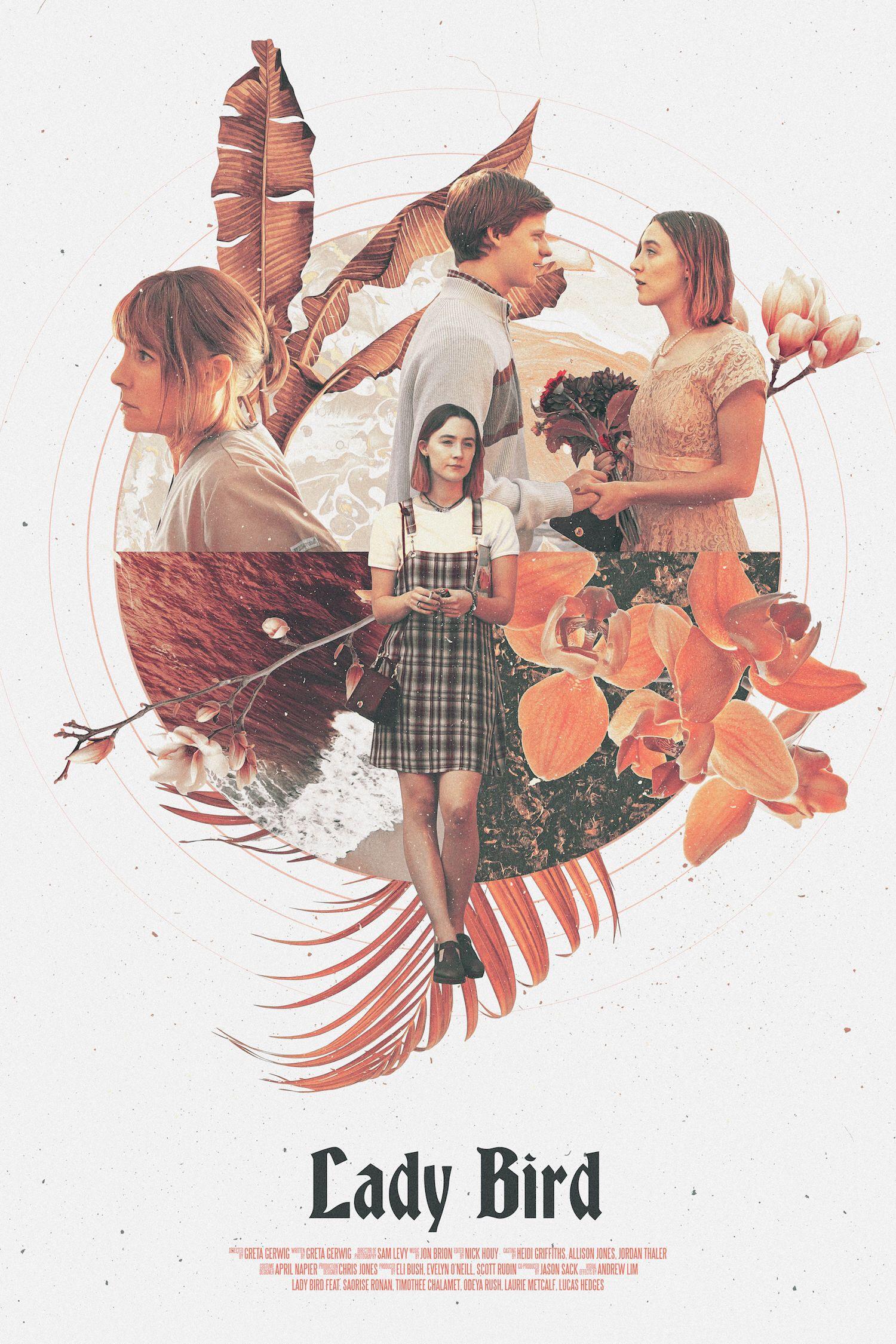Lady Bird Poster • Alternative Movie Poster • RetroVintage Movie Poster • Retro Style Graphic