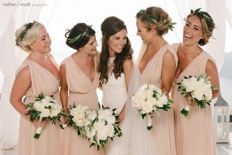 Image Result For Grecian Blush Bridesmaids Bridesmaid Dresses Bridesmaid Blush Bridesmaids