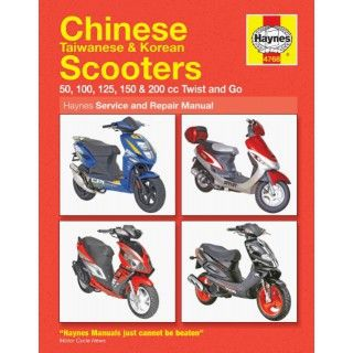 Manual chinese scooters 50cc to 125cc twist go baotain for Garage reparation scooter