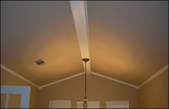 Hmm Maybe A Center Beam For Chandelier Crown Moulding For Vaulted Ceilings Vaulted Ceiling Living Room Crown Molding Vaulted Ceiling Vaulted Ceiling Beams