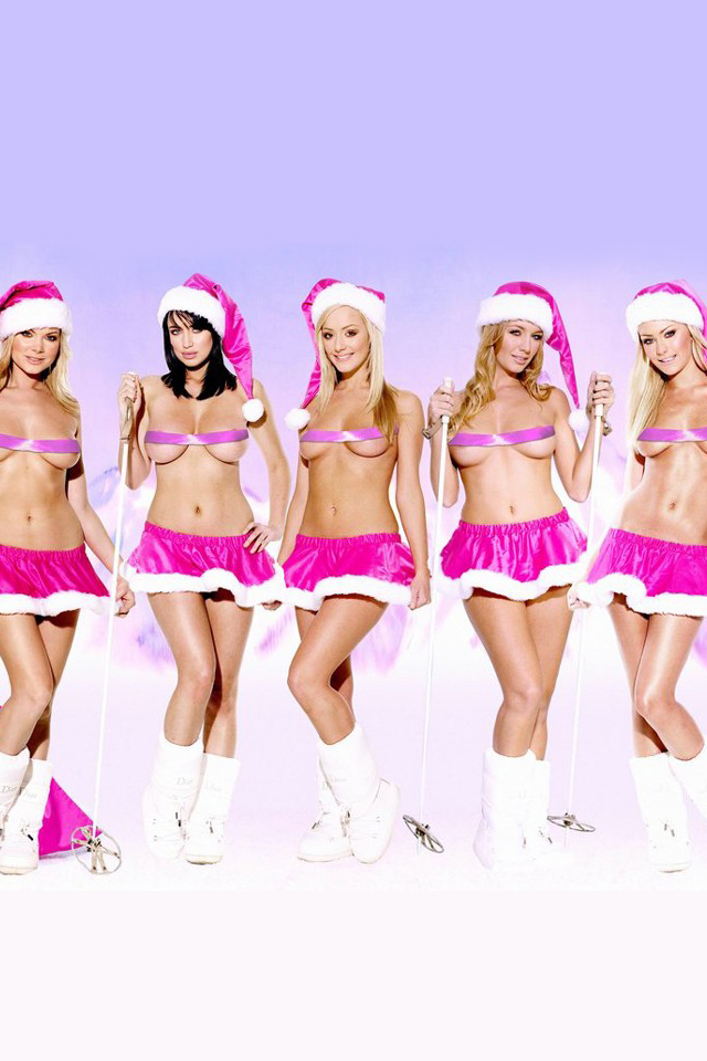 Sexy nude christmas girls wallpaper idea