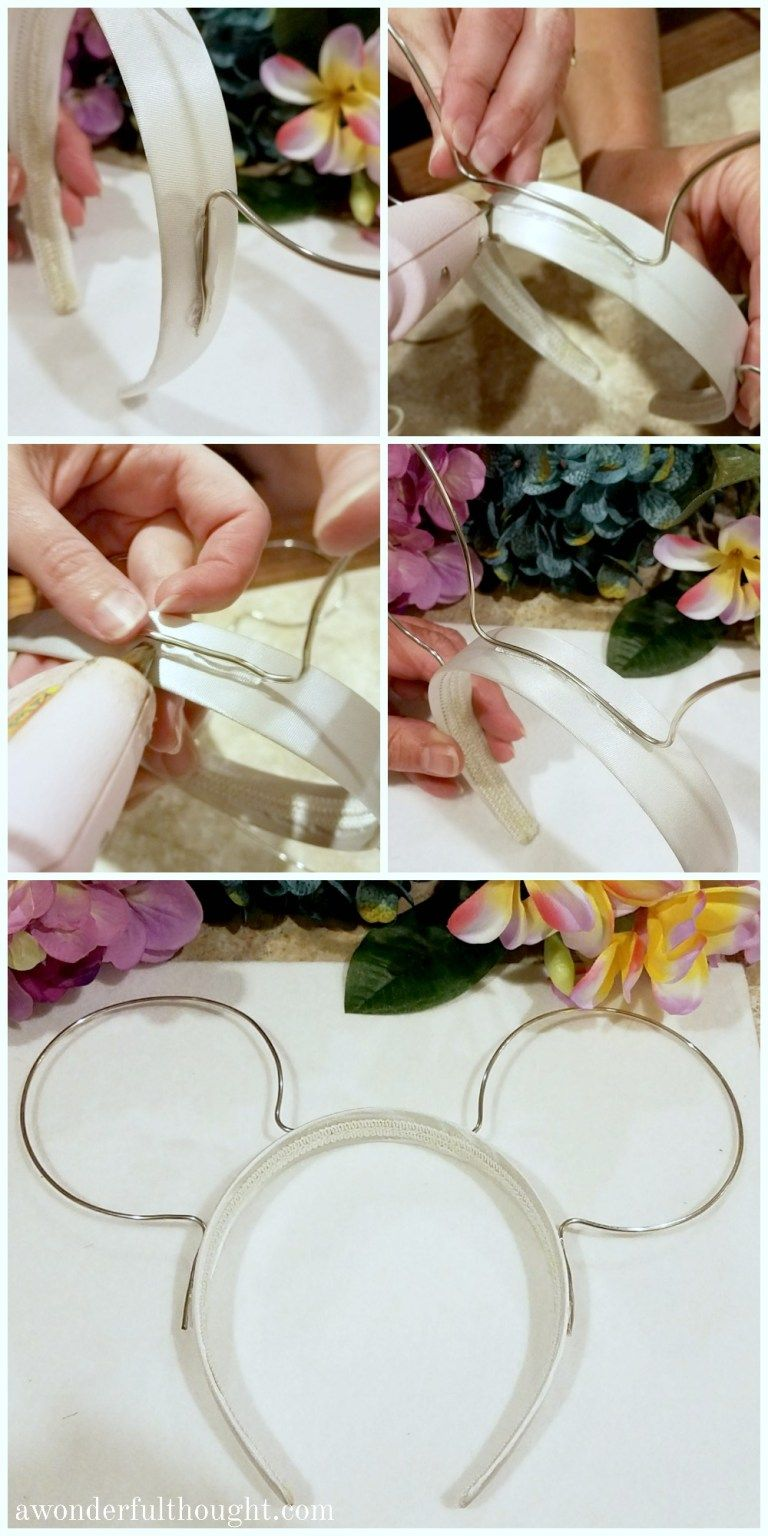 DIY Floral Wire Minnie Ears is part of diy - You don't have to spend a lot of money buying a set of Minnie ears for Disney! Learn how to make your own set of adorable DIY Floral Wire Minnie Ears!
