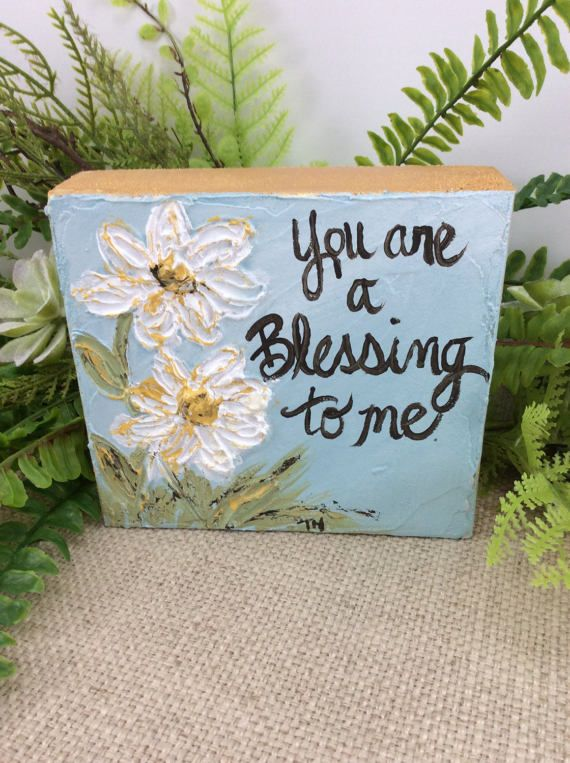 Words On Wood Small Art Hand Painted Art Quotes Wood Block Words On Wood Hand Painting Art Crafts