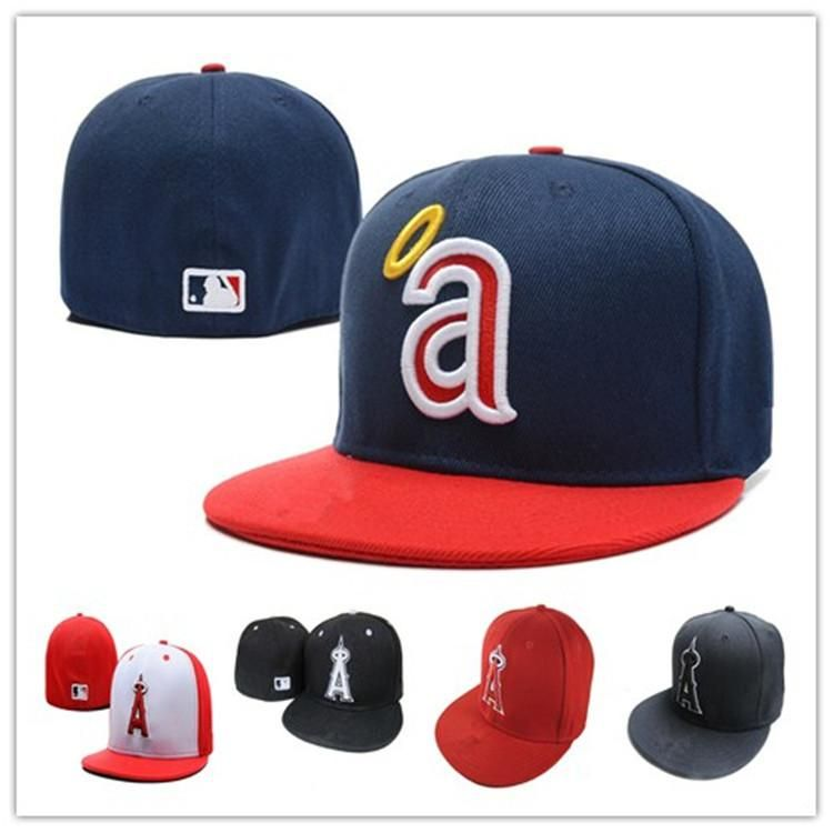 7f3b3146923cb9 Wholesale Los Angeles #Angels #Fitted Caps A Letter embroidery baseball cap  flat-brim hat team size baseball cap