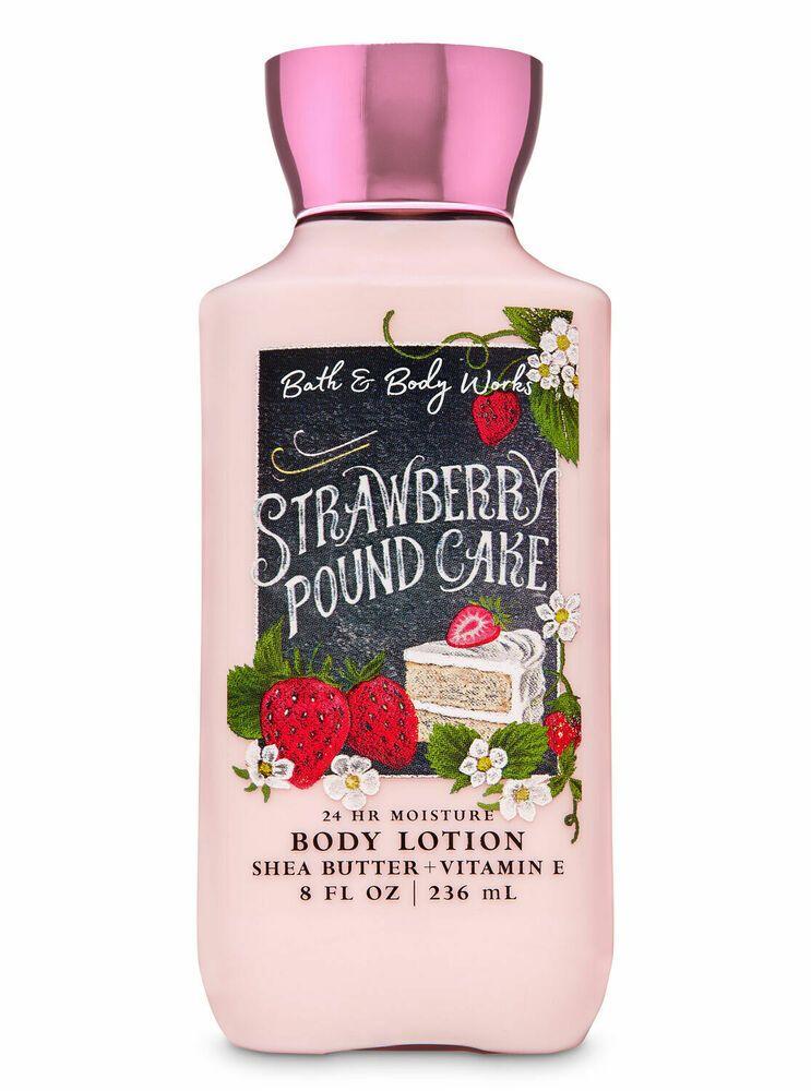 Bath body works strawberry pound cake body lotion 8 oz