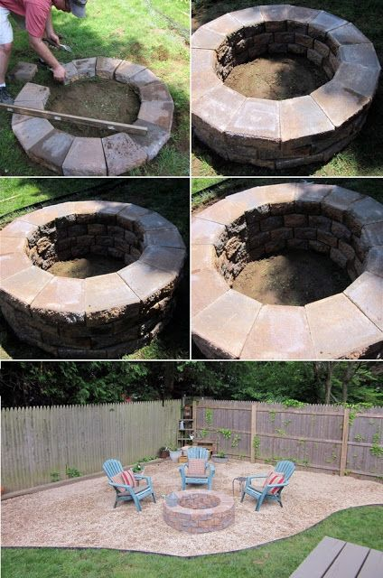 Alternative Gardning How To Build A Simple Fire Pit Diy