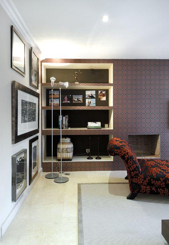 Salón de una vivienda en Madrid