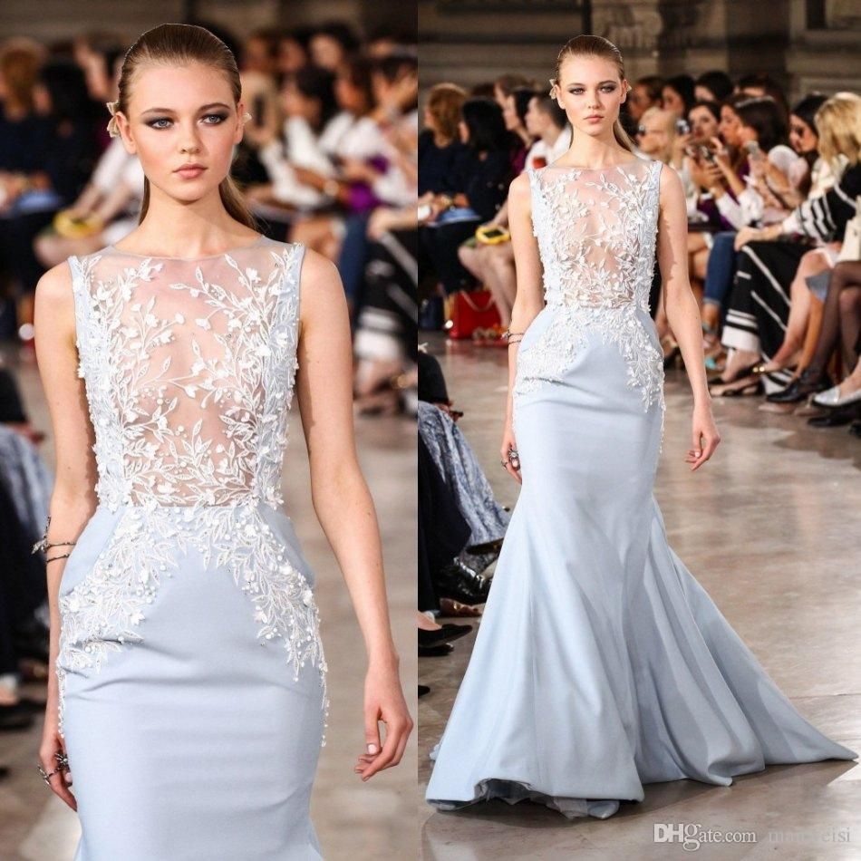 Georges hobeika sexy evening dresses wear lace applique beads