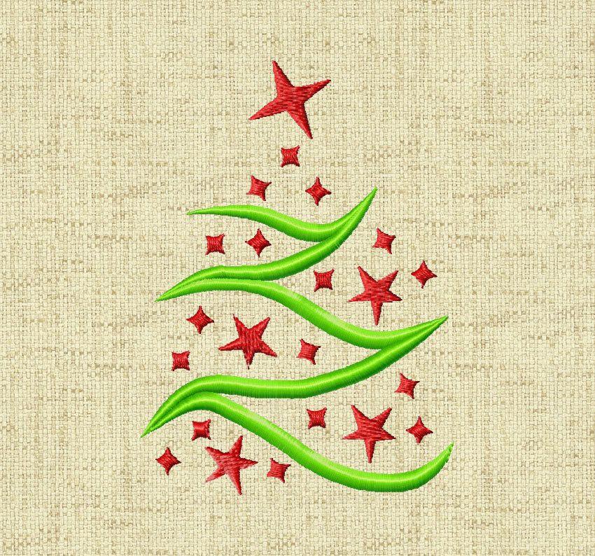 BOGO FREE! Christmas Tree, Machine Embroidery Design, Digital ...