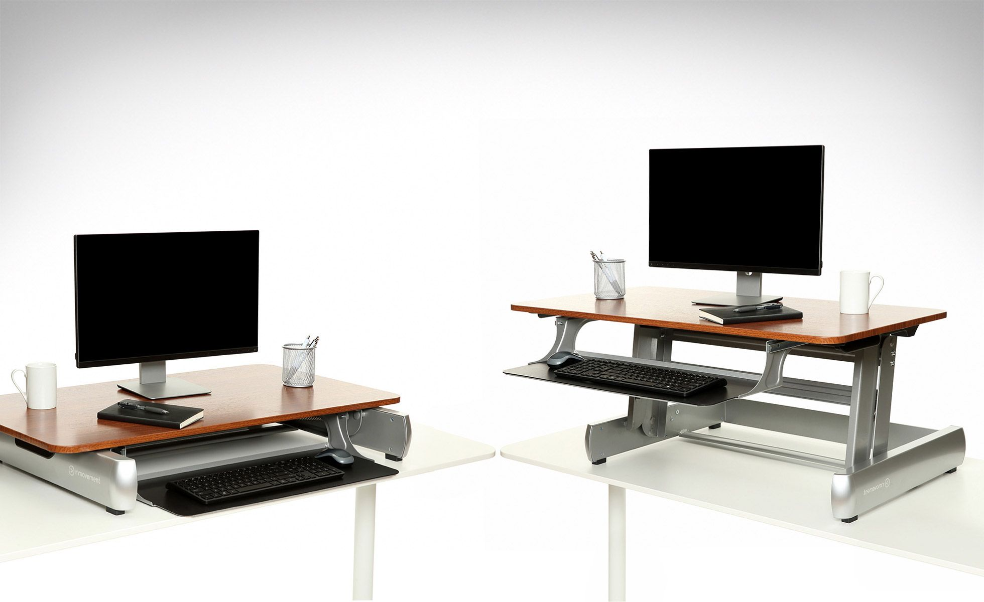 review inmovement elevate desktop dt2 sit to stand desk home rh pinterest at