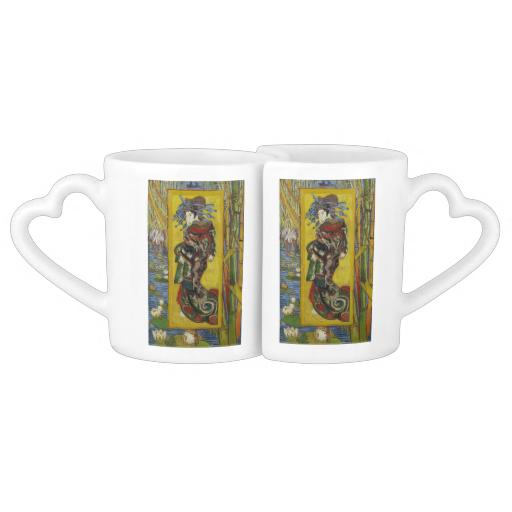 Courtesan after Eisen by Vincent Van Gogh Couple Mugs