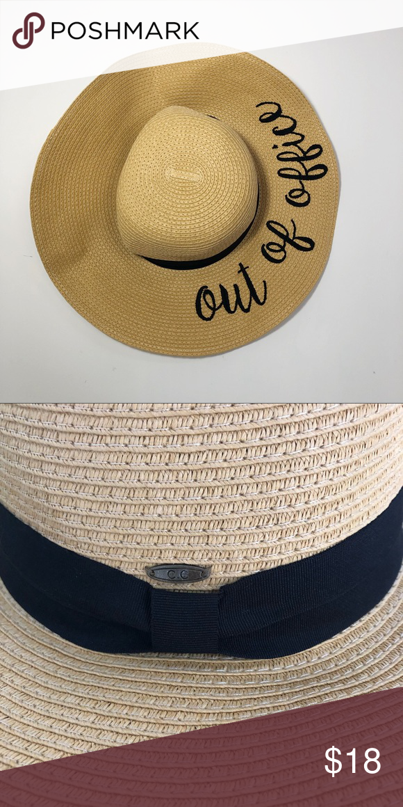 e4ad636f00f56e Charming Charlie | Out of office floppy hat EUC Out of office floppy hat |  black tie | adjustable Charming Charlie Accessories Hats